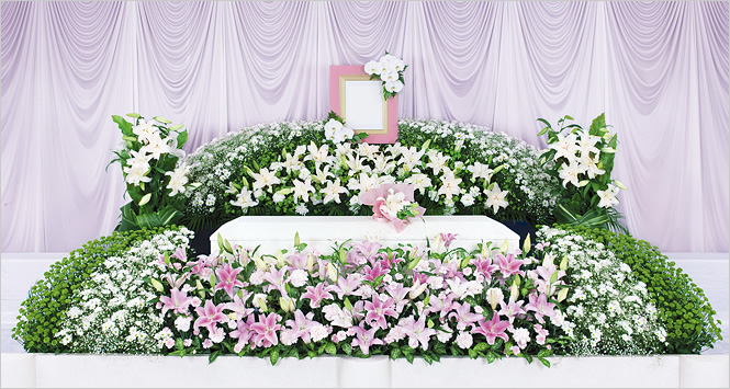 新花で送る家族葬148 祭壇画像